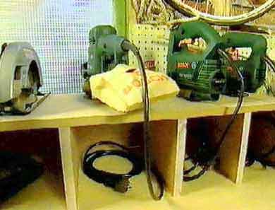 Power Tool Storage Cabinet Plans