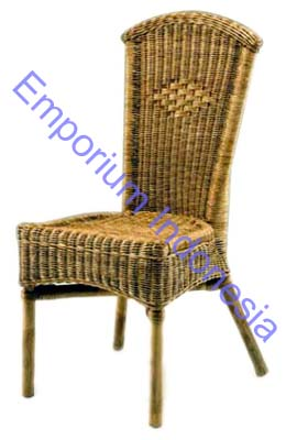 Machine Age | Set of Six Hand Woven Rattan Dining Chairs by Harvey